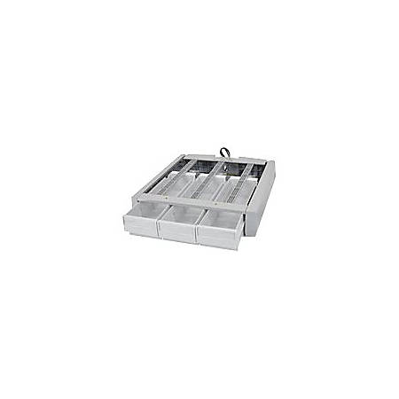"Ergotron SV43/44 Supplemental Triple Drawer - 4 Compartment(s) - 3 Drawer(s) - 2.5"" Height x 3.8"" Width x 10.5"" Depth - Gray, White - 3"