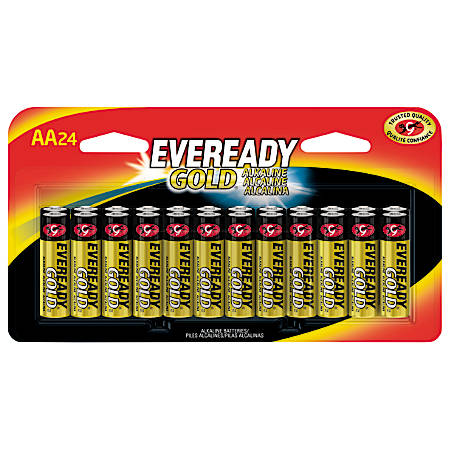 Eveready® Gold AA Alkaline Batteries, Pack Of 24
