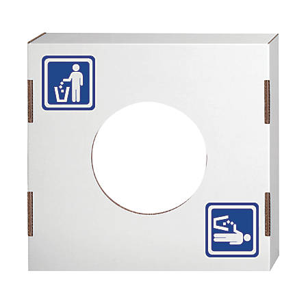 """Bankers Box® Waste And Recycling Bin Lids, Waste, 18 1/4"""" x 18 1/4"""" x 6"""", 60% Recycled, White/Blue, Pack Of 10"""
