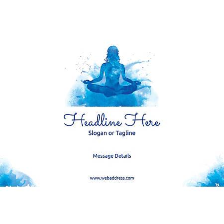 Adhesive Sign, Meditation, Horizontal