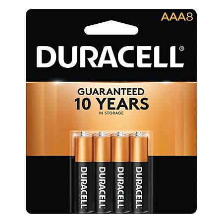 Duracell® Coppertop Alkaline AAA Batteries, Pack Of 8 Batteries