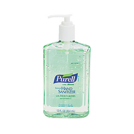 Purell® Instant Hand Sanitizer With Aloe, Unscented, 12 Oz, Carton Of 12