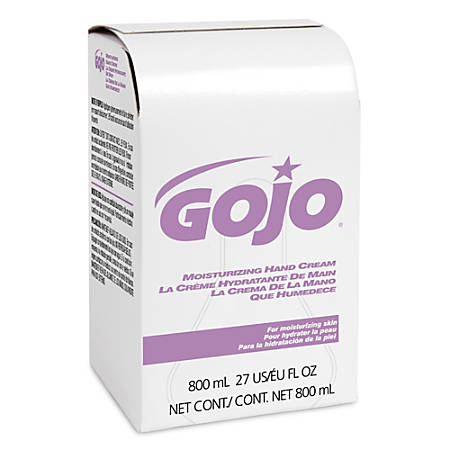 Gojo® Moisturizing Lotion Hand Cream Refills, Floral Scent, 800 Ml, Case Of 12