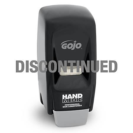 "Gojo® HAND MEDIC Wall-Mount Lotion Dispenser, 11""H x 4 1/2""W x 4 1/8""D, Black"
