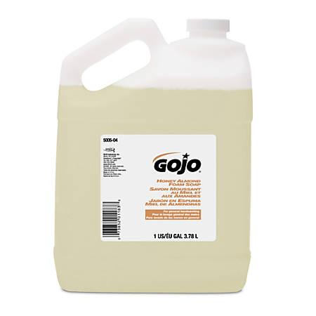 GOJO® Honey Almond Scented Foam Soap, 128 Oz, Pack Of 4 Soaps