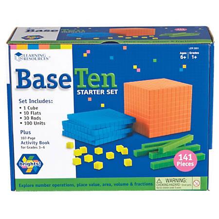 Learning Resources® Brights! Base 10 Starter Set, Grades 1 - 9