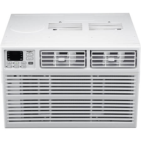 """Whirlpool Energy Star Window-Mounted Air Conditioner With Remote, 15,000 BTU, 17 15/16""""H x 25 5/16""""W x 23 5/8""""D, White"""