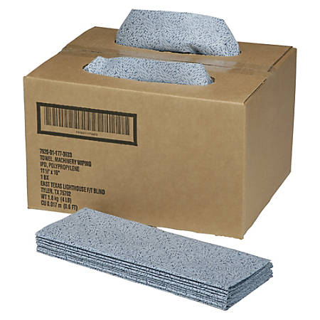 "SKILCRAFT® ScrubWipes Preparation Wipers, 11 1/2"" x 16 1/2"", Blue, Pack Of 300 (AbilityOne 7920-01-177-3633)"