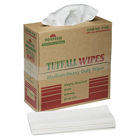 "SKILCRAFT® Paper Towel Wipes, 1-Ply, 9 3/4"" x 16 3/4"", White, Pack Of 100 (AbilityOne 7920-01-512-2413)"