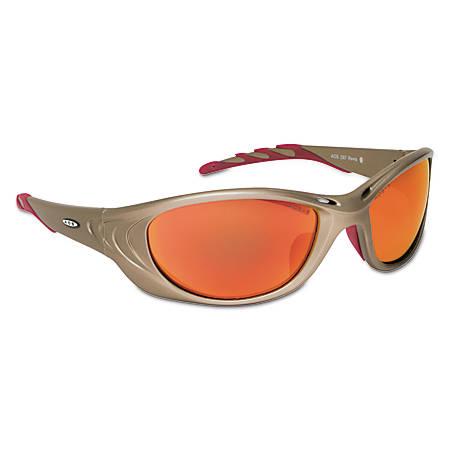 Fuel 2 Safety Eyewear, Red Mirror Lens, Anti-Fog/HC, Metallic Sand Frame, Nylon