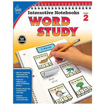 Carson-Dellosa Interactive Notebooks Word Study Books, Grade 2