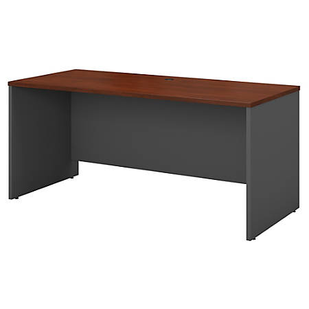 "Bush Business Furniture Components Credenza Desk 60""W x 24""D, Hansen Cherry/Graphite Gray, Standard Delivery"