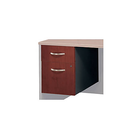 Bush Business Furniture Components 2 Drawer 3/4 Pedestal, Hansen Cherry/Graphite Gray, Standard Delivery