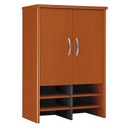 """Bush Business Furniture Components Hutch 30""""W, Auburn Maple/Graphite Gray, Premium Installation"""