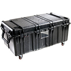 """Pelican 0550NF Large Transport Case without Foam - Internal Dimensions: 47.57"""" Width x 24.07"""" Depth x 17.68"""" Height - External Dimensions: 51.1"""" Width x 27.5"""" Depth x 22.8"""" Height - 82.29 gal - Latching Closure - Stackable - Polypropylene - Black"""
