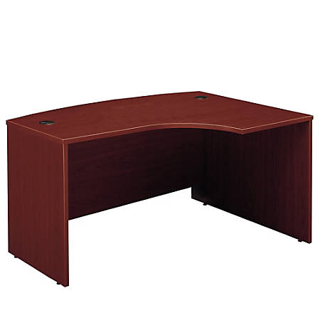 "Bush Business Furniture Components L Bow Desk Right Handed, 60""W x 43""D, Mahogany, Standard Delivery"
