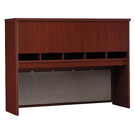 "Bush Business Furniture Components Hutch 60""W, Mahogany, Standard Delivery"