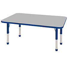 ECR4KIDS Adjustable Rectangle Activity Table Chunky
