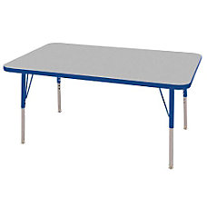 ECR4KIDS Adjustable Rectangle Activity Table Standard