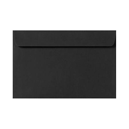 "LUX Booklet Envelopes With Moisture Closure, #9 1/2, 9"" x 12"", Midnight Black, Pack Of 50"