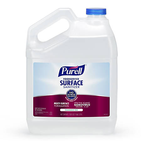 Purell® Food Service Surface Sanitizer Refill, Fragrance Free, 1 Gallon