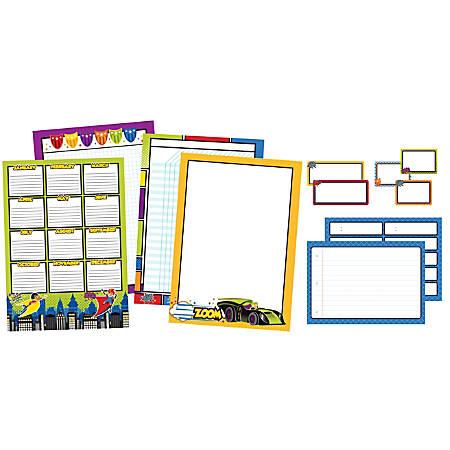 Carson-Dellosa Super Power Classroom Organizers Bulletin Board Set, Multicolor, Grades K-5