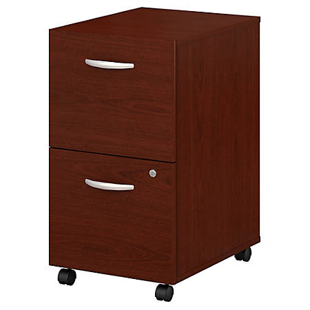 Bush Business Furniture Components 2 Drawer Mobile File Cabinet, Mahogany, Premium Installation