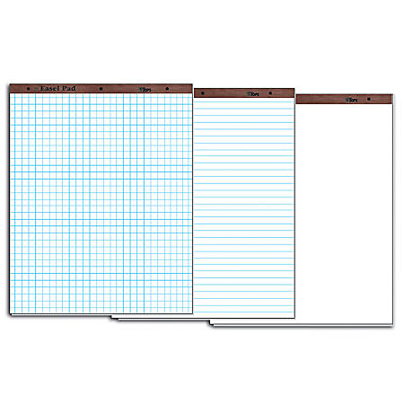 "TOPS™ Easel Pads, 27"" x 34"", White Paper With 1"" Squares, 50 Sheets, Box Of 2"