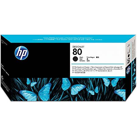HP C4820A, Black Inkjet Printhead And Printhead Cleaner