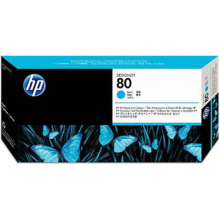 HP C4821A, Cyan Inkjet Printhead And Printhead Cleaner