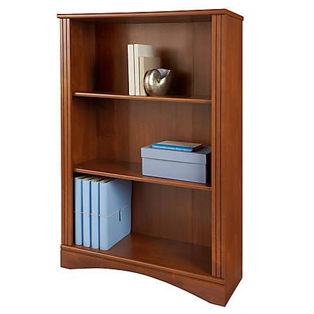 Reale Dawson 3 Shelf Bookcase Brushed