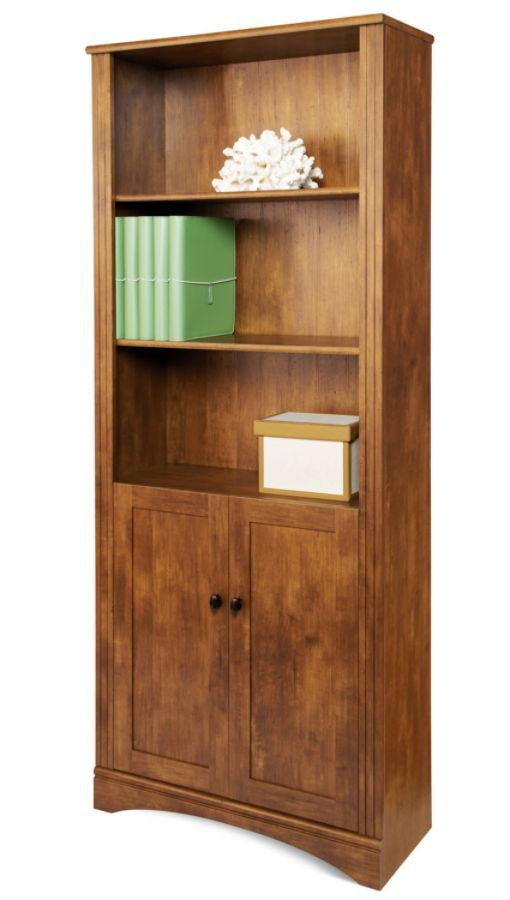Office bookcases with doors Contemporary Use And Keys To Zoom In And Out Arrow Keys Move The Zoomed Portion Of The Image Office Depot Realspace Dawson Shelf Bookcase With Doors Brushed Maple Office