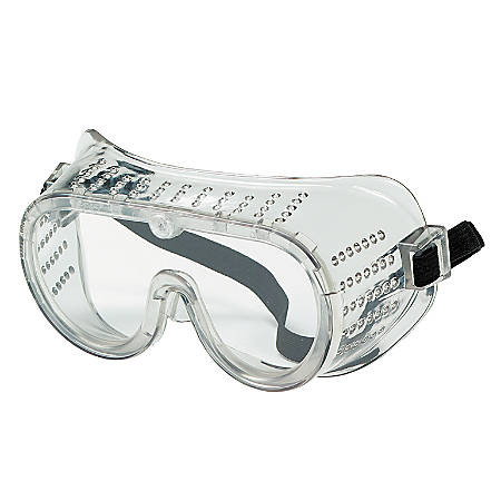 R3® Safety Economy Cover Safety Goggles, Clear