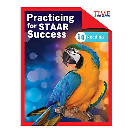 Shell Education TIME For Kids Practicing For STAAR Success: Reading, Level 4, English, Grade 4