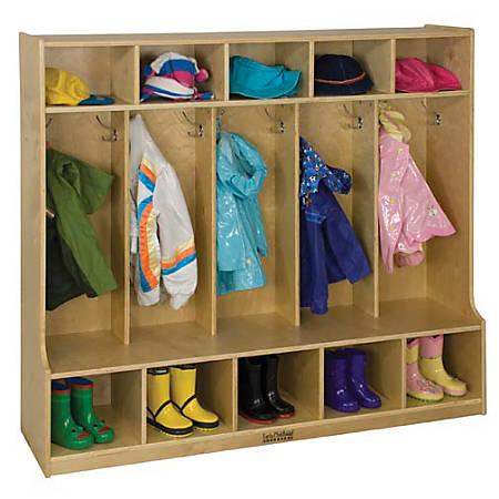 "ECR4Kids® Coat Locker, Bench, 48""H x 54""W x 13""D, Natural"