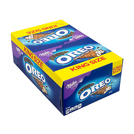 Milka Oreo King-Size Chocolate Bars, 2.88 Oz, Box Of 24 Bars