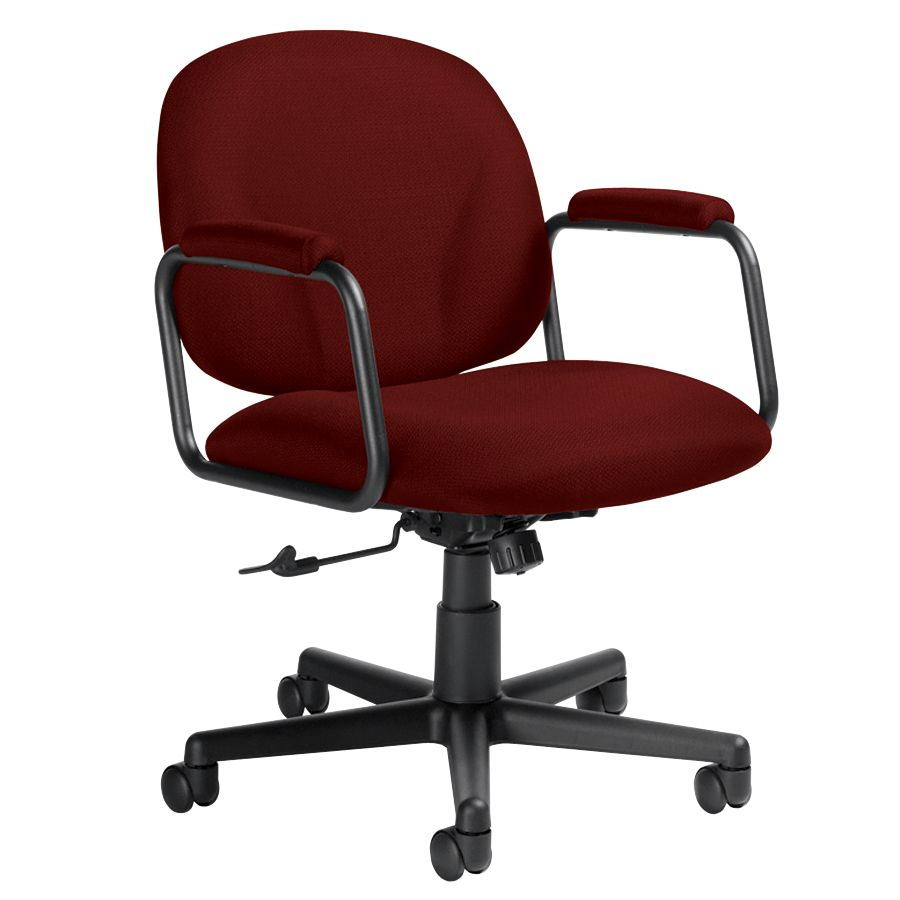 Global Solo Low Back Fabric Tilter Chairs 35 H X 23 W X 25 12 D Black Frame  Burgundy Fabric Carton Of 2 By Office Depot U0026 OfficeMax