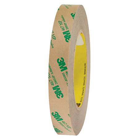 """3M™ 467MP Adhesive Transfer Tape, 3"""" Core, 0.75"""" x 60 Yd., Clear, Case Of 6"""