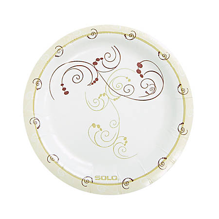 """Solo Cup Heavyweight Paper Plates - 6"""" Diameter Plate - Paper Plate - Symphony - Tan, Natural - 1000 Piece(s) / Carton"""