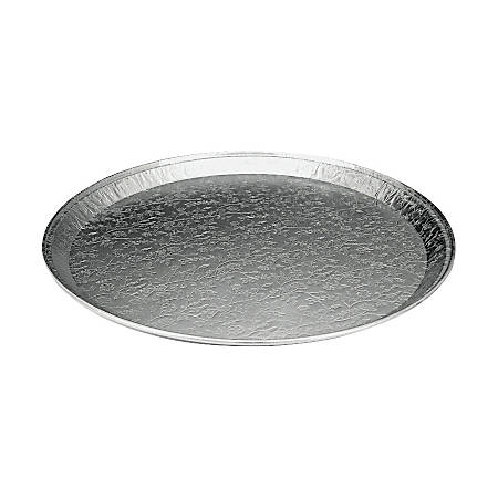 "WP Western Plastics Flat Foil Party Tray - 16"" Diameter Tray - Aluminum - Disposable - Aluminum - 25 Piece(s) / Carton"