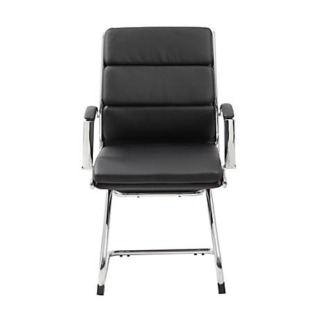 Boss CaressoftPlus™ Guest Chair, Black/Chrome