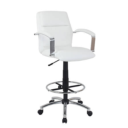 Global Office Furniture Drafting Stool, Beige/Chrome
