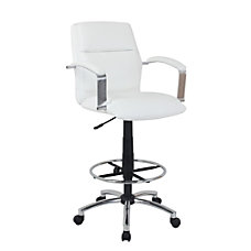 Global Office Furniture Drafting Stool IceChrome