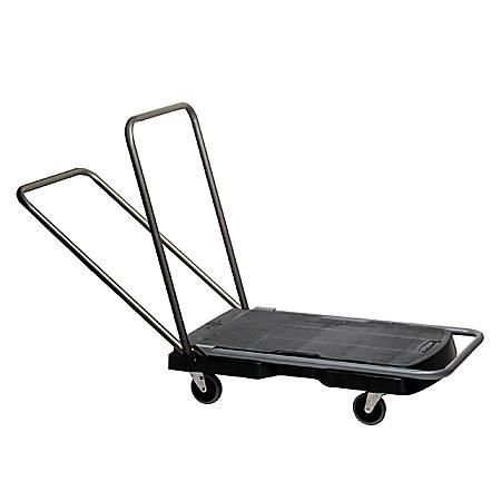 """Rubbermaid® Triple Trolley Utility Cart, 20 1/2""""W x 32 1/2""""D, Black"""