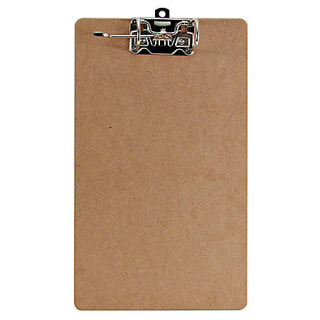 "Office Depot® Brand Clipboard With Arch Clip, 9"" x 17"", Brown"