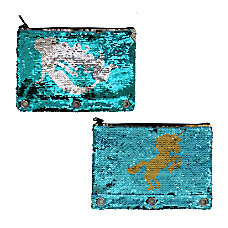 Inkology Reversible Sequin Binder Pencil Pouches