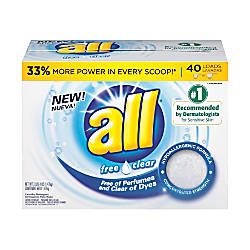 All Free Clear Laundry Detergent Powder