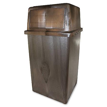 Vanguard 45-gallon In/Outdoor Receptacle - 45 gal Capacity - Polyethylene, Structural Foam - Brown