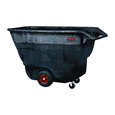 "Rubbermaid Commercial Standard Duty Utility Truck - 1250 lb Capacity - Structofoam - 33"" Width x 72"" Depth x 43"" Height - Black"