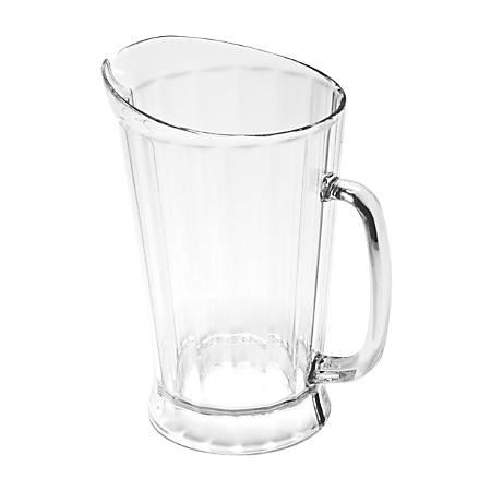Rubbermaid Commercial 60 oz. Bouncer II Pitcher - 1.9 quart Pitcher - Polycarbonate Plastic - Dishwasher Safe - Clear - 1 Piece(s) Each